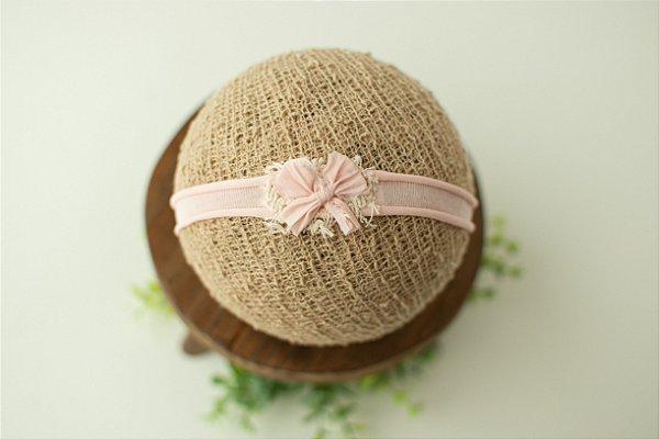 Headband Lacinho Rosa bebê