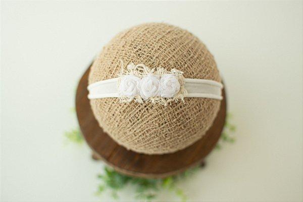 Headband Florzinhas Branca