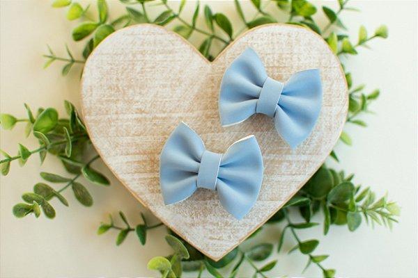Laço Camurça Nobuck Pequeno Presilha Blue