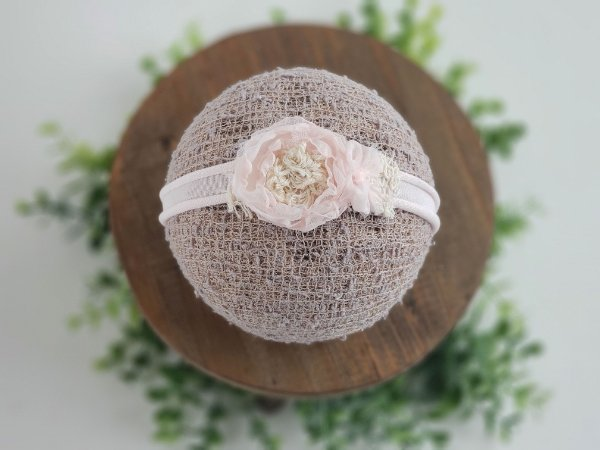 Headband Mara Rosa Bebê (tira de amarrar)
