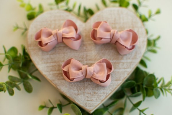 Mini Laço Boutique Gravatinha Rosê