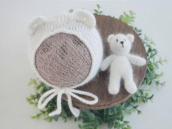 Conjunto Ursinho Angorá Branco