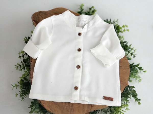 Camisa Cambraia Off  White