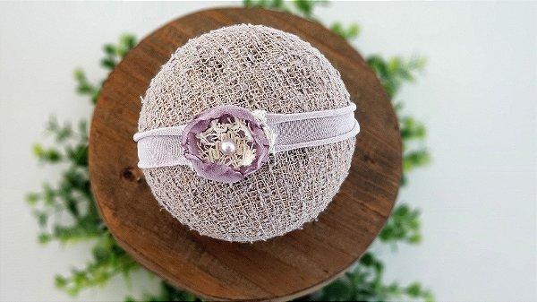 Headband Flor Lilac