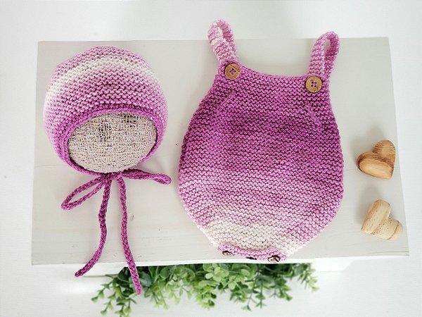 Conjunto Body Degradê Púrpura