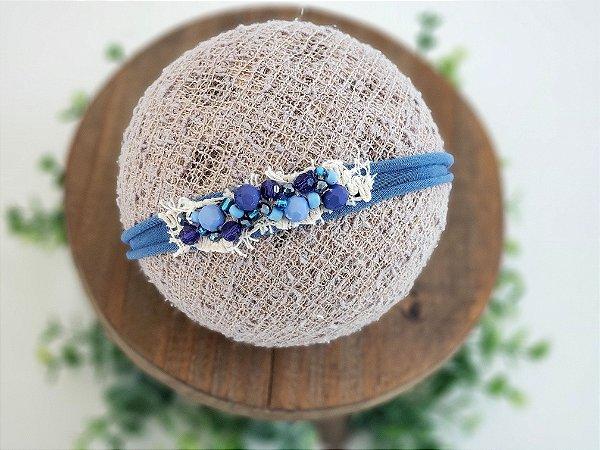 Headband Cristal Azul