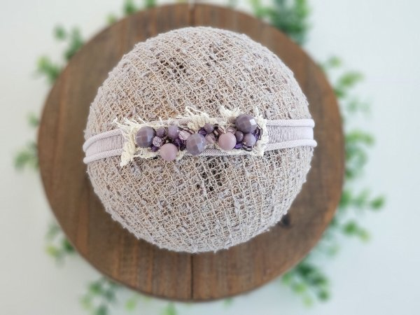 Headband Cristal Lilac