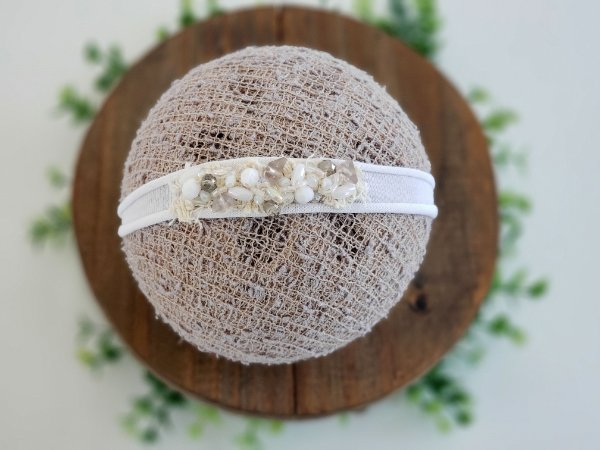 Headband Cristal Branco