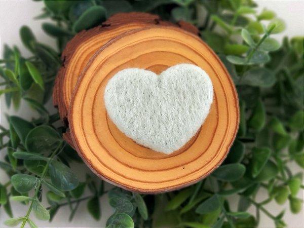 Coração de Feltragem Verde Sage