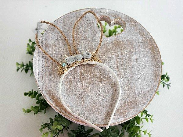 Arco Orelhinhas de Coelho Verde Sage