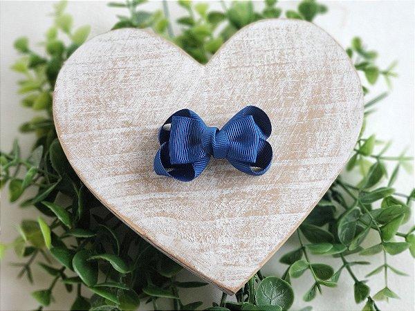 Mini Laço Boutique Gravatinha Azul Jeans