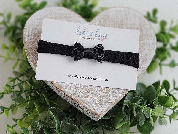 Laço Gravatinha Mini Preto