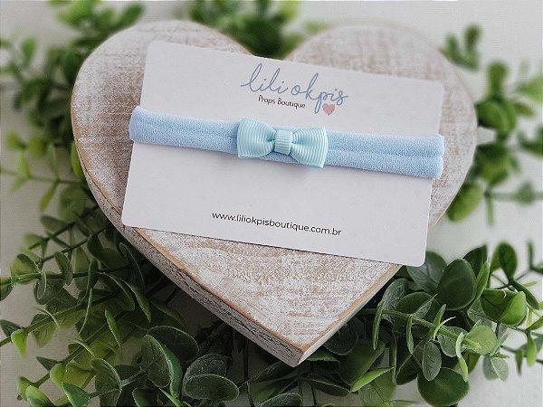 Laço Gravatinha Micro Azul bebê