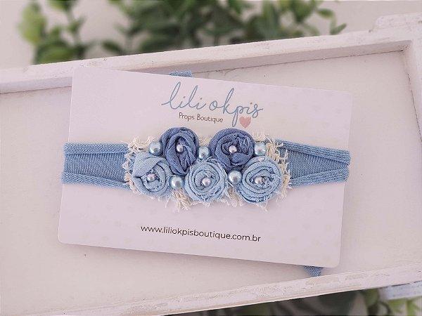 Headband Lauren Azul