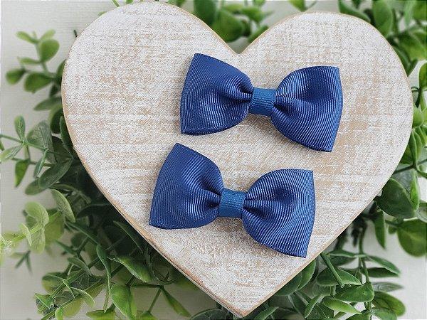 Laço Gravata Azul Jeans