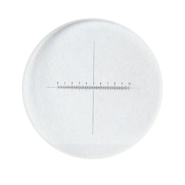 Retículo em Cruz 10mm/100 divisões e diâmetro de 26mm - TA-0263-A