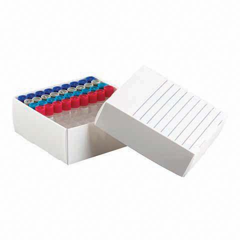 Caixa de Polipropileno para 81 Microtubos 1,5 a 2,0 ml - K30-0081