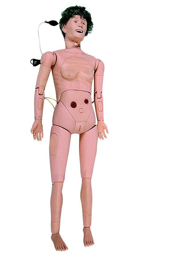 Manequim Geriátrico Feminino Simulador Avançado Enfermagem