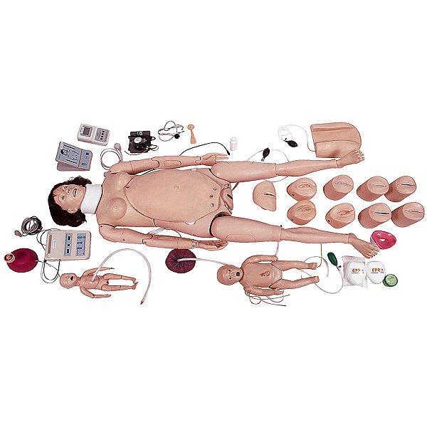 Manequim Avanç. Partur. Neonatal - RCP e Suporte Emergência