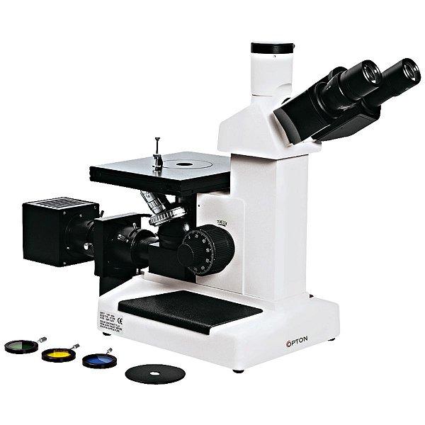Microscópio Metalográfico Trinocular Invertido 100-1000x