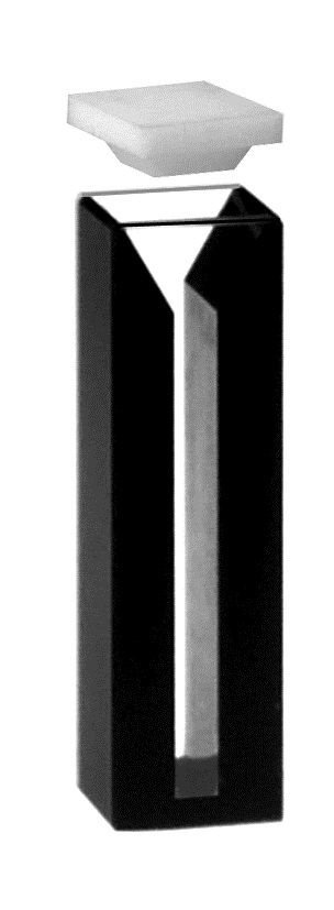 Cubeta Vidro Óptico 1,4 ml  2 f pol lat escuras - K28-114-G