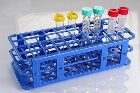 Estante em Polipropileno para 40 Tubos de 21 mm Azul