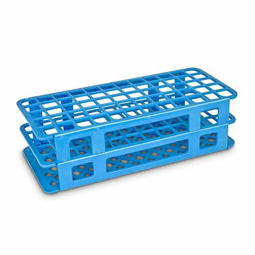 Estante em Polipropileno para 60 Tubos de 17 mm Azul