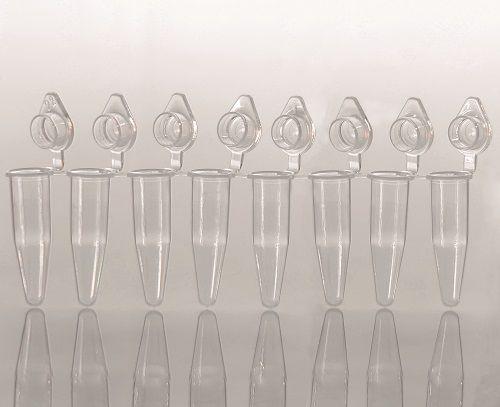 Microtubo em Tiras PCR 8 x 200 ul Tampa Domed Anexada