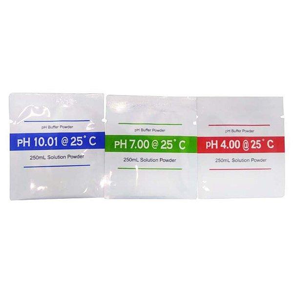 Kit de Tampão para Calibração de pHmetro (pH 4, 7 e 10) - K39-004