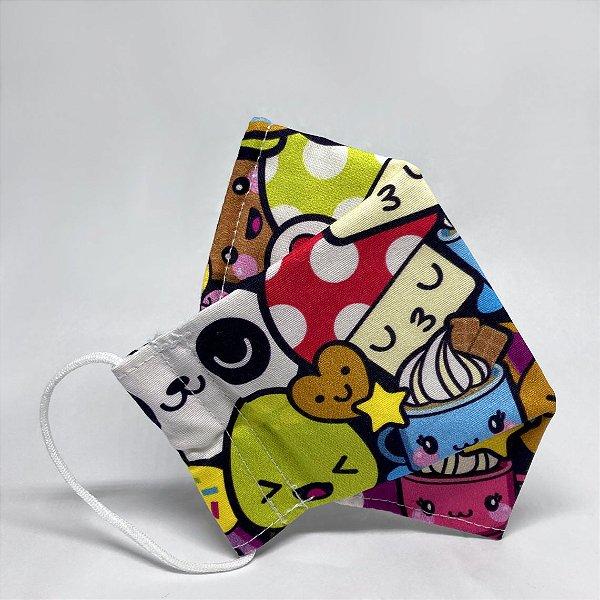 Máscara 3D Infantil Estampa Kawaii