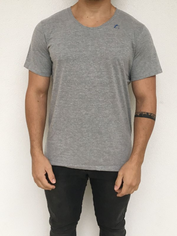 Camiseta Masculina Cinza Mescla
