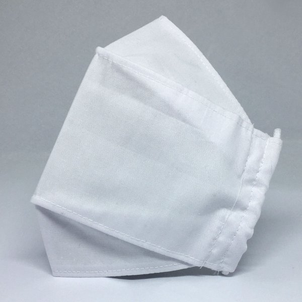 Máscara de Tecido 3D Branca Tripla Camada