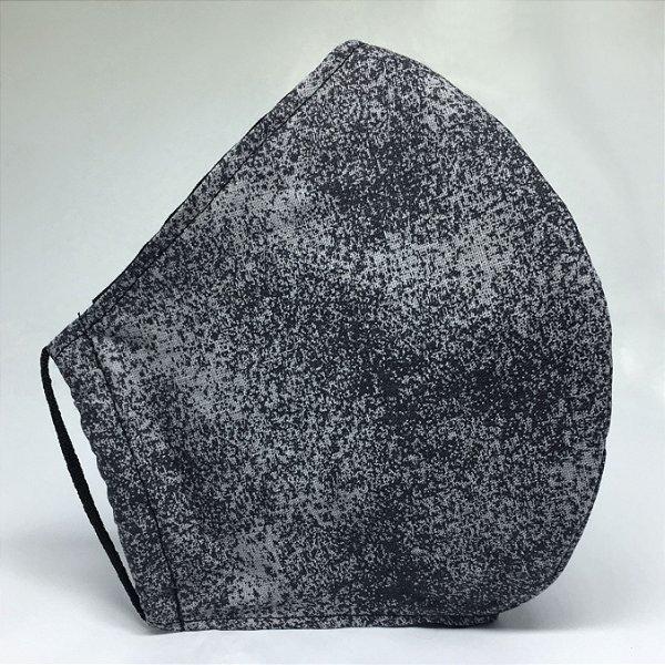 Máscara de Tecido Bico de Pato Cinza Poeira - Modelo CT