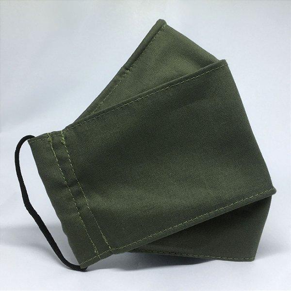 Máscara 3D Verde Musgo - Tripla Camada