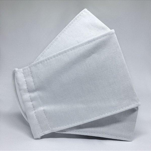 KIT de 10 Máscaras de Tecido 3D Branco