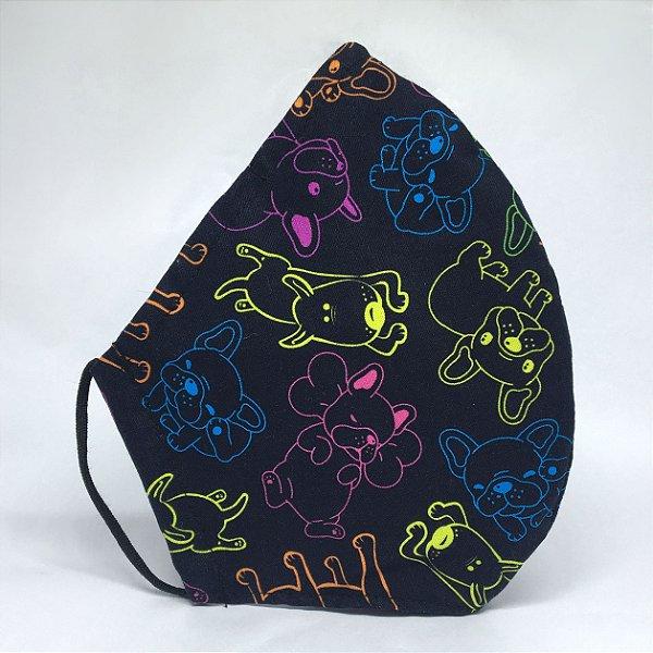 Máscara Bico de Pato Neon Dogs - Tripla Camada