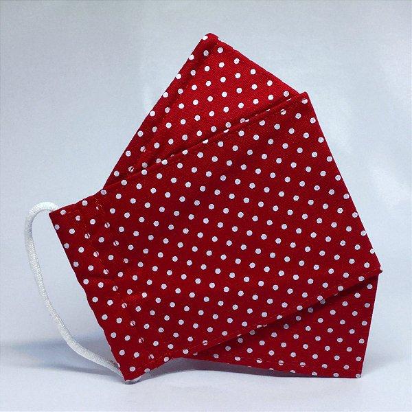 Máscara 3D Vermelha de Petit Poá - Tripla Camada
