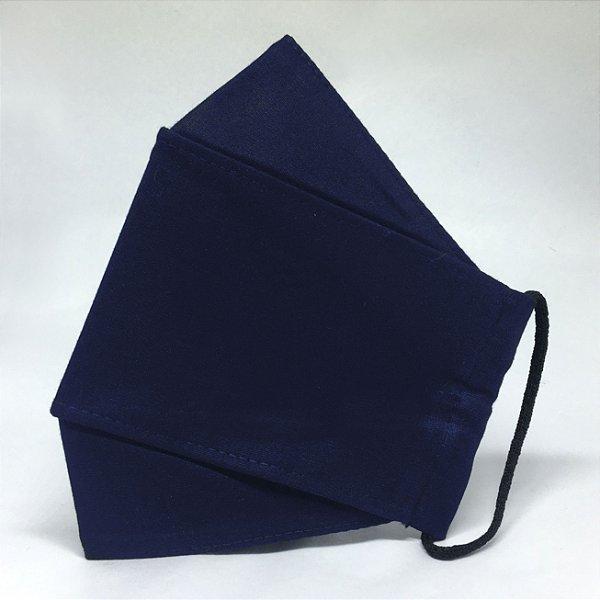 KIT de 10 Máscaras 3D Azul Marinho - Tripla Camada