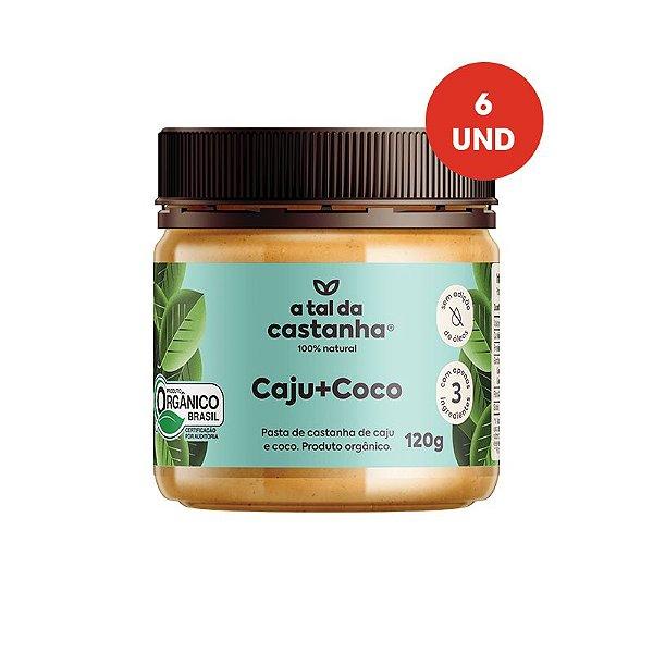 Pasta de Castanha Caju+Coco Orgânica - 120g - Cx c/ 06 und