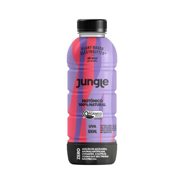 Isotônico 100% Natural Jungle sabor Uva Orgânico 500ml
