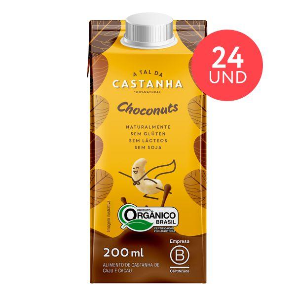 Achocolatado Choconuts Orgânico 200 ML - 24 unidades