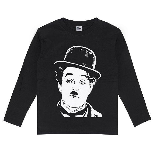 Camiseta Manga Longa Charlie Chaplin