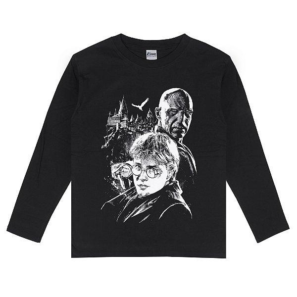 Camiseta Manga Longa Harry Potter Lord Voldemort