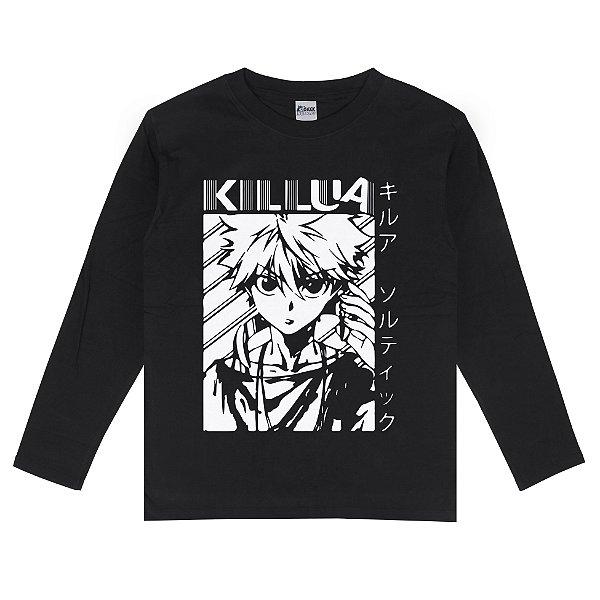 Camiseta Manga Longa Hunter x Hunter Killua