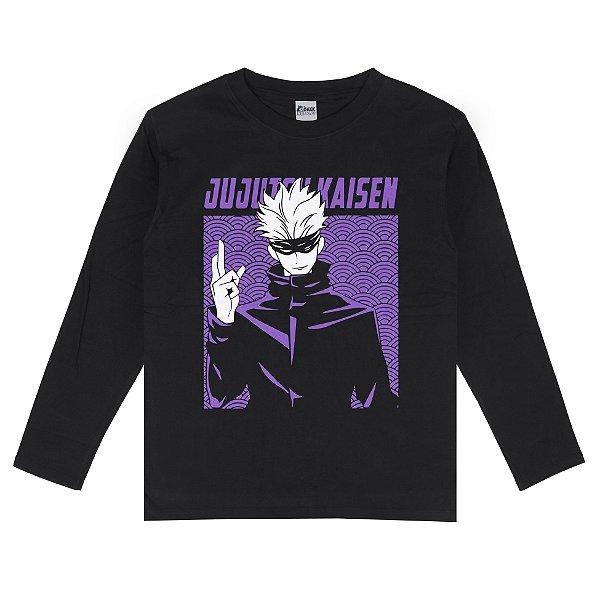Camiseta Manga Longa Satoru Gojo Jujutsu Kaisen