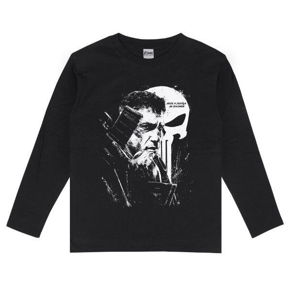 Camiseta Manga Longa Justiceiro (The Punisher)