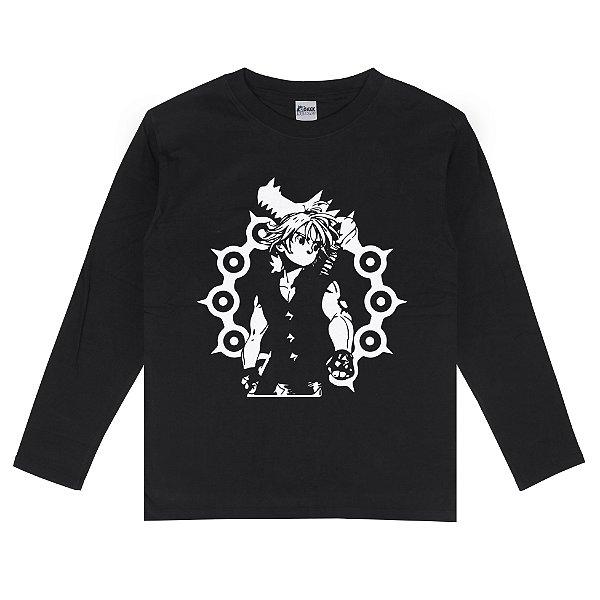 Camiseta Manga Longa Meliodas Nanatsu no Taizai