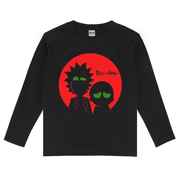 Camiseta Manga Longa Rick and Morty