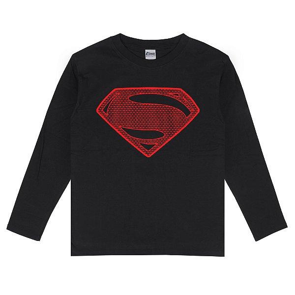 Camiseta Manga Longa Superman
