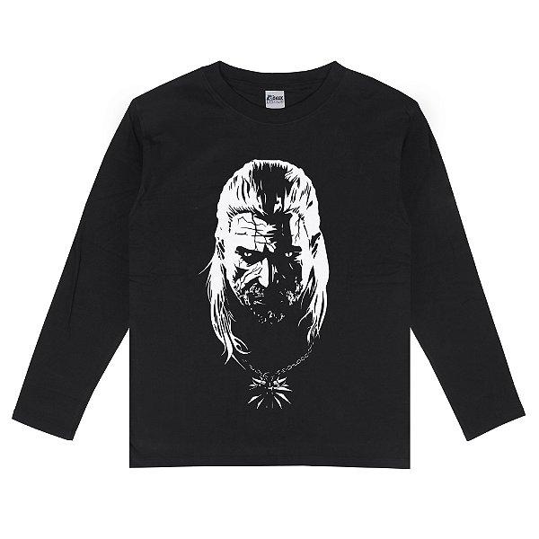 Camiseta Manga Longa Geralt de Rivia The Witcher